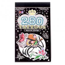 TTI012-13 Временные татуировки набор 5 листов 8,5х16см Бабочки