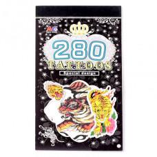 TTI012-16 Временные татуировки набор 5 листов 8,5х16см Тигры