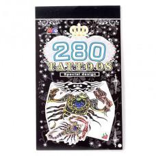 TTI012-22 Временные татуировки набор 5 листов 8,5х16см Скорпионы