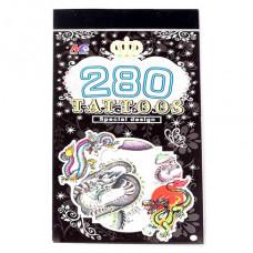 TTI012-23 Временные татуировки набор 5 листов 8,5х16см Драконы, змеи
