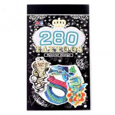 TTI012-25 Временные татуировки набор 5 листов 8,5х16см Драконы, змеи