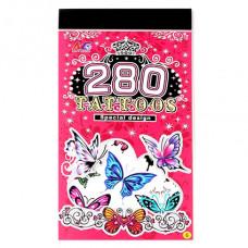 TTI012-35 Временные татуировки набор 5 листов 8,5х16см Бабочки