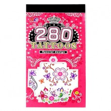 TTI012-41 Временные татуировки набор 5 листов 8,5х16см Бабочки, стрекозы