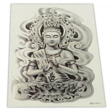 TTI013-23 Временная татуировка Будда 15х21см