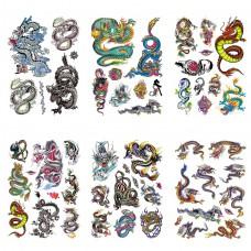 TTK003-202 Временные татуировки набор 6 листов 12х17,5см Драконы