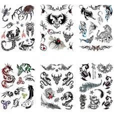 TTK003-212 Временные татуировки набор 6 листов