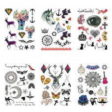TTK003-307 Временные татуировки набор 6 листов 12х17,5см Магия