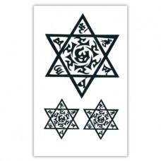 TTWM-078 Временная татуировка 6-конечная звезда