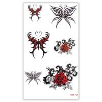 TTWM-154 Временная татуировка Бабочки, розы