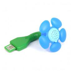 """USB012 USB-ароматизатор """"Цветок"""", цвет голубой"""