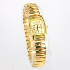 WA001GG Часы наручные женские, браслет резинка, цвет золот.
