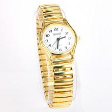 WA002GW Часы наручные женские, браслет резинка, цвет золот.