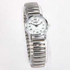 WA002SW Часы наручные женские, браслет резинка, цвет серебр.