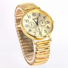WA003GG Часы наручные женские, браслет резинка, цвет золот.