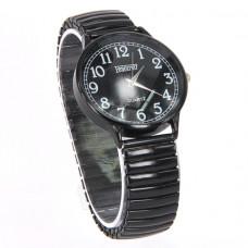 WA004BB Часы наручные женские, браслет резинка, цвет чёрный
