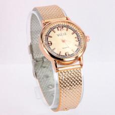 WA006GG Часы наручные женские с золотоым ремешком