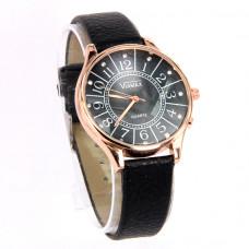 WA009BB Часы наручные женские с чёрным ремешком