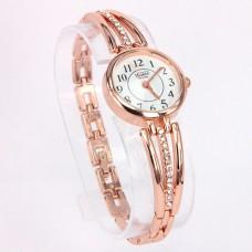 WA012GW Часы - браслет женские со стразами, цвет золот.