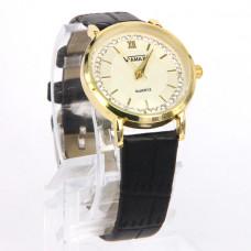WA016BW Часы наручные женские со стразами с чёрным ремешком