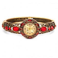 WA022-03 Часы - браслет, эмаль, внутр.размер 5,7х4,2см, цвет бронз.