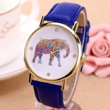 WA024-BL Часы наручные Слон с синим ремешком
