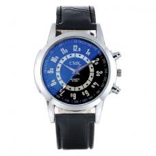 "WA026-BL Часы наручные с черно-синим циферблатом ""хамелеон"""