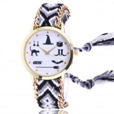 WA029-1 Часы наручные Ведьмины Знаки с плетёным браслетом