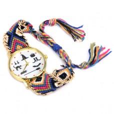 WA029-2 Часы наручные Ведьмины Знаки с плетёным браслетом