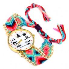 WA029-3 Часы наручные Ведьмины Знаки с плетёным браслетом