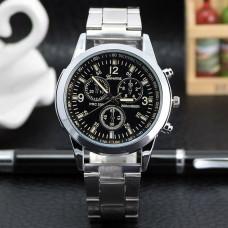 WA038-BK Часы наручные с металлическим браслетом, циферблат хамелеон