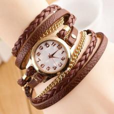WA042-BR Часы - браслет, цвет коричневый
