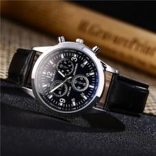 WA048-BK Часы наручные, циферблат хамелеон, с чёрным ремешком