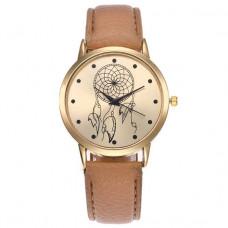 WA049-BR Часы наручные Ловец снов, цвет ремешка коричневый
