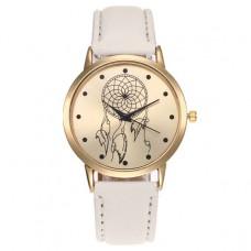 WA049-SL Часы наручные Ловец снов, цвет ремешка слоновая кость