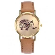 WA051-BJ Часы наручные Слон с бежевым ремешком