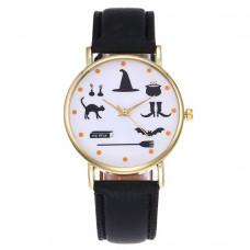 WA053-BK Часы наручные Ведьмины Знаки с чёрным ремешком