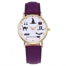 WA053-PU Часы наручные Ведьмины Знаки с фиолетовым ремешком
