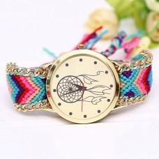 WA054-1 Часы наручные Ловец снов с плетёным браслетом