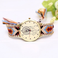 WA054-4 Часы наручные Ловец снов с плетёным браслетом