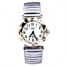 WA065 Часы наручные женские, браслет резинка, цвет серый