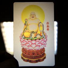 YA020 Карта Будды Майтрейя 8,7х5,7см, прозрачный пластик
