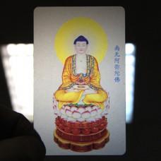 YA021 Карта Будды Будда медицины 8,7х5,7см, прозрачный пластик