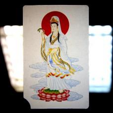 YA038 Карта Будды Авалокитешвара 8,7х5,7см, прозрачный пластик
