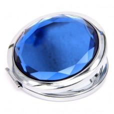 ZE001-1 Двойное зеркало (второе с увеличением) d.7см, цвет синий
