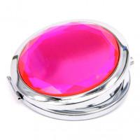 ZE001-2 Двойное зеркало (второе с увеличением) d.7см, цвет розовый