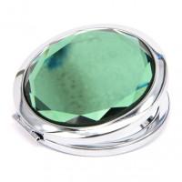 ZE001-3 Двойное зеркало (второе с увеличением) d.7см, цвет зелёный