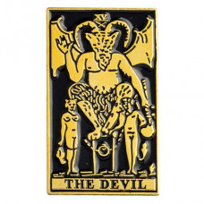 ZN009 Значок The Devil, металл, эмаль 30х18мм