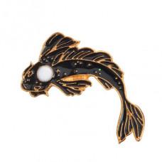 ZN014 Значок Рыба, металл, эмаль 32х20мм