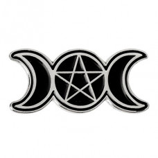 ZN023 Значок Знак Богини, металл, эмаль 26х11мм