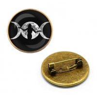 ZNA005 Значок Знак Богини, d.27мм, цвет бронз.